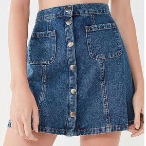 Urban Outfitters Button Down Denim Skirt